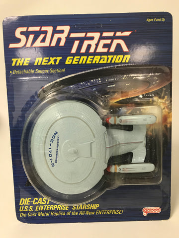1988 Galoob Star Trek The Next Generation TNG Die-Cast U.S.S. Enterprise Starship MOC