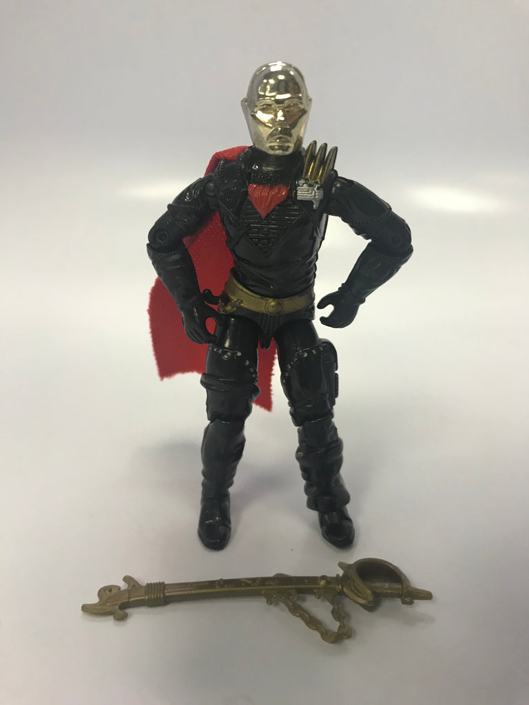 1988 Hasbro GI Joe V2 Destro Iron Grenadiers Gold Dome Came With Despoiler Loose Complete