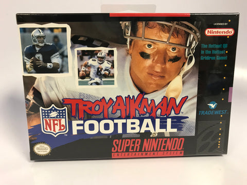 1994 Super Nintendo SNES Dallas Cowboys Troy Aikman NFL Football FACTORY SEALED Unopen