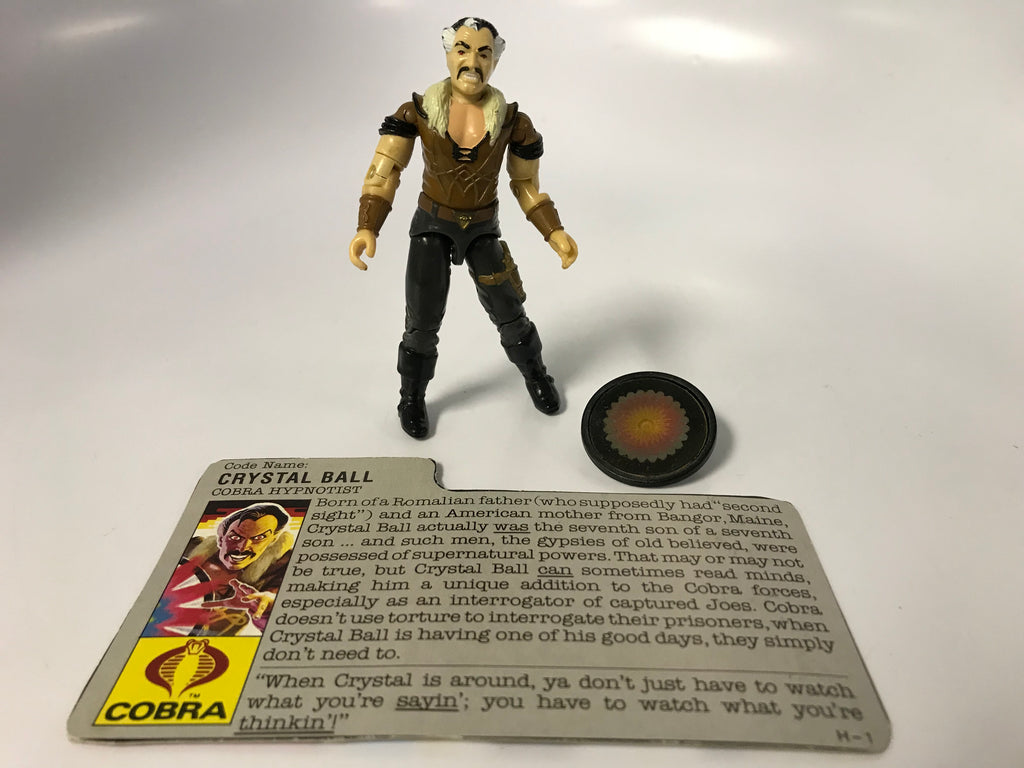 1986 Hasbro GI Joe CRYSTAL BALL (v1) COBRA HYPNOTIST Loose Complete