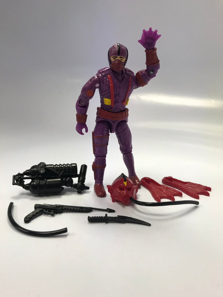 1988 Hasbro Gi Joe HYDRO-VIPER (v1) (DEMON OF THE DEEP) COBRA UNDERWATER ELITE TROOPER Loose Complete