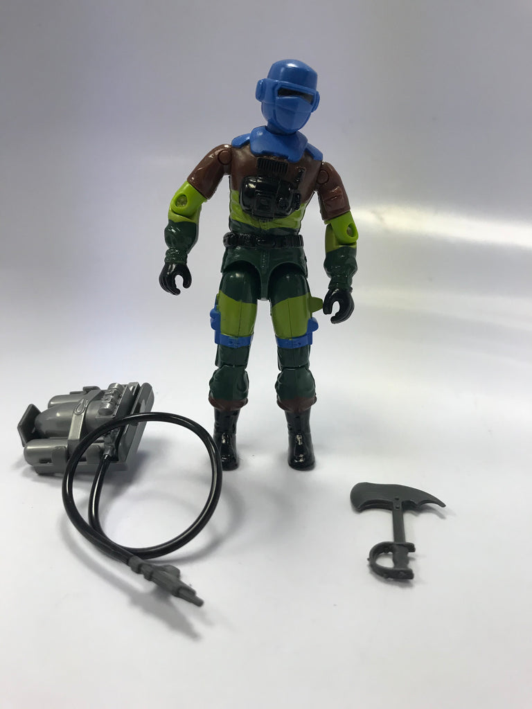 1989 Hasbro Gi Joe BARBECUE (v2) FIREFIGHTER Slaughters Marauders Loose Complete