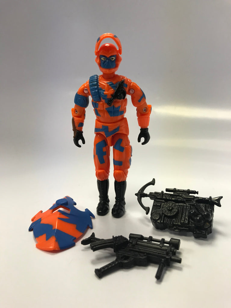 1989 Hasbro GI Joe ALLEY VIPER (v1) COBRA URBAN ASSAULT TROOPER Loose Complete