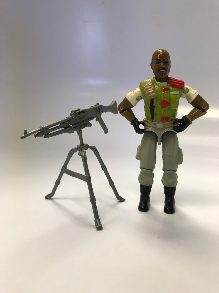 1986 Hasbro Gi Joe ROADBLOCK (v2) HEAVY MACHINE GUNNER Loose Complete