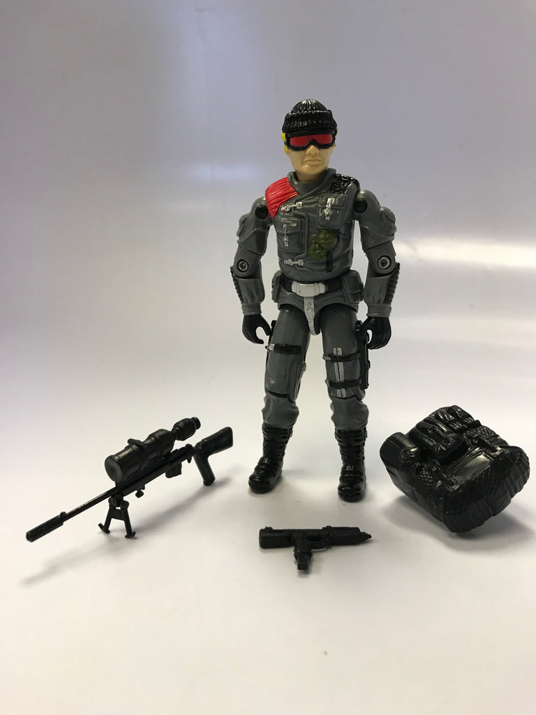 1983 Hasbro Gi Joe LOW-LIGHT (v1) NIGHT SPOTTER Loose Complete with Bi-Pod Stand