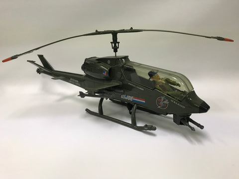 1983 Hasbro Gi Joe DRAGONFLY [XH-1] ASSAULT COPTER Loose Complete with Wild Bill