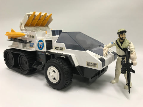 1985 Hasbro Gi Joe Tiger Arctic Snow Cat Loose Not Complete with Frostbite