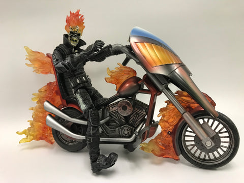 Toy Biz Marvel Legends Series 7 Ghost Rider with Motorcycle Loose Complete