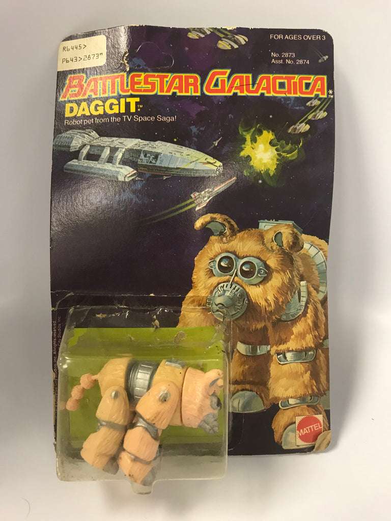 1978 Mattel Battlestar Galactica Light Tan Variant Daggit In Opened Bubble