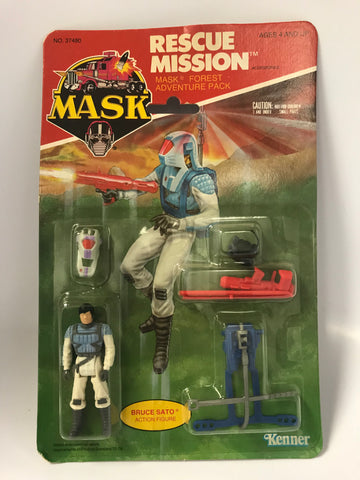 1986 Kenner M.A.S.K. Bruce Sato Rescue Mission Pack MOC Sealed MASK