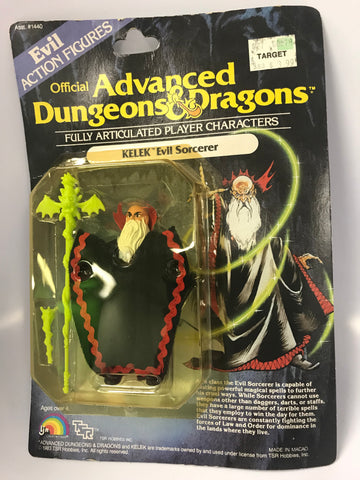 1984 Vintage LJN Advanced Dungeons & Dragons Kelek Evil Sorcerer MOC SEALED New