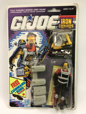 1989 Hasbro GI Joe Metal Head Metalhead ARAH Iron Grenadiers MOC