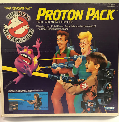 1986 Kenner The Real Ghostbusters Proton Pack Back Pack & Accessories 100% Complete