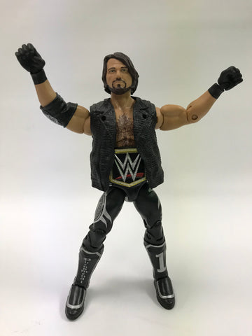 Mattel WWE WCW WWF NWA TNA Elite AJ Styles With WWE Championship Japanese Bullet Club Attire