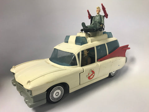 1986 Kenner The Real Ghostbusters Vintage Ecto-1 Complete With Ghost Includes Egon Spengler and Peter Venkman (Loose)