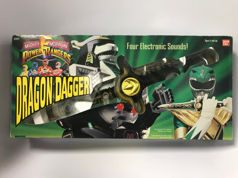 1994 Bandai Mighty Morphin Power Rangers Tommy The Green Ranger's Dragon Dagger in Box