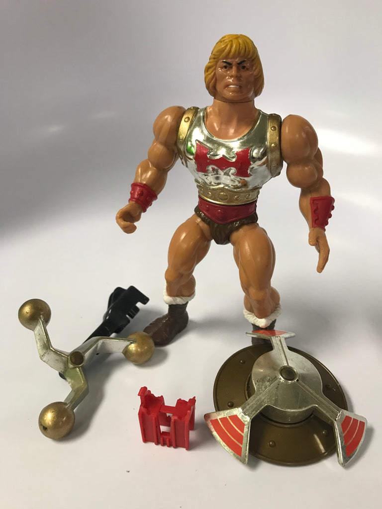 1983 Mattel He-Man & The Masters of the Universe Flying Fists He-Man With Original Clip Loose Complete