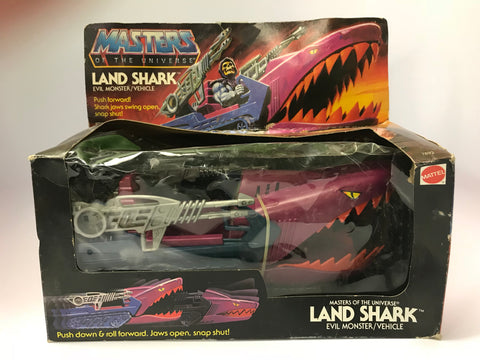 1982 Mattel He-Man & The Masters of the Universe Land Shark Never Removed & Still Tied to Box
