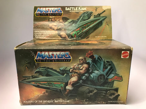 1982 Mattel He-Man & The Masters of the Universe Battle Ram In Original Box Contents Sealed Stickers Unapplied