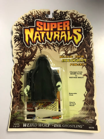 1986 Tonka Toys Super Naturals Evil Ghostling Weird Wolf MOC Factory Sealed New Old Stock
