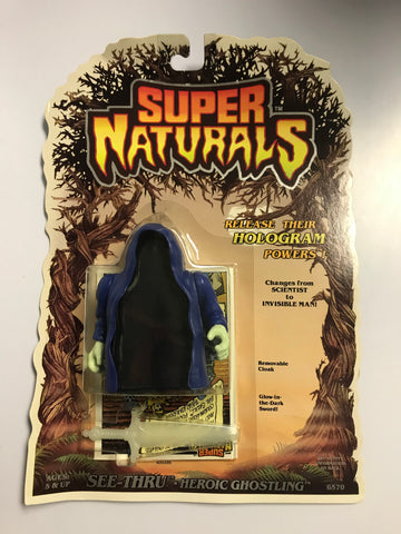 1986 Tonka Toys Super Naturals Heroic Ghostling See-Thru MOC Factory Sealed New Old Stock