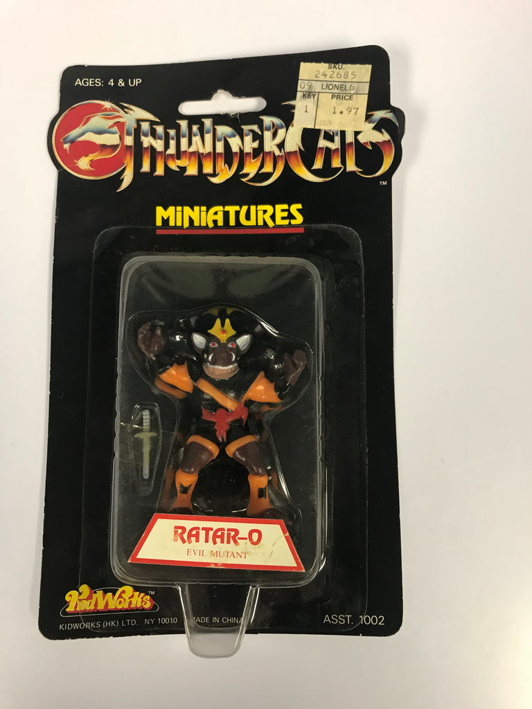 1986 Telepix Thundercats Miniatures Ratar-O Factory Sealed MOC