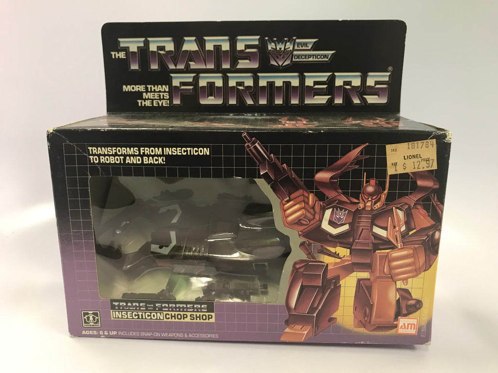 1985 Vintage Hasbro G1 Transformers Insecticon Chop Shop Contents Sealed Bubble Sealed Tape on Box Broke