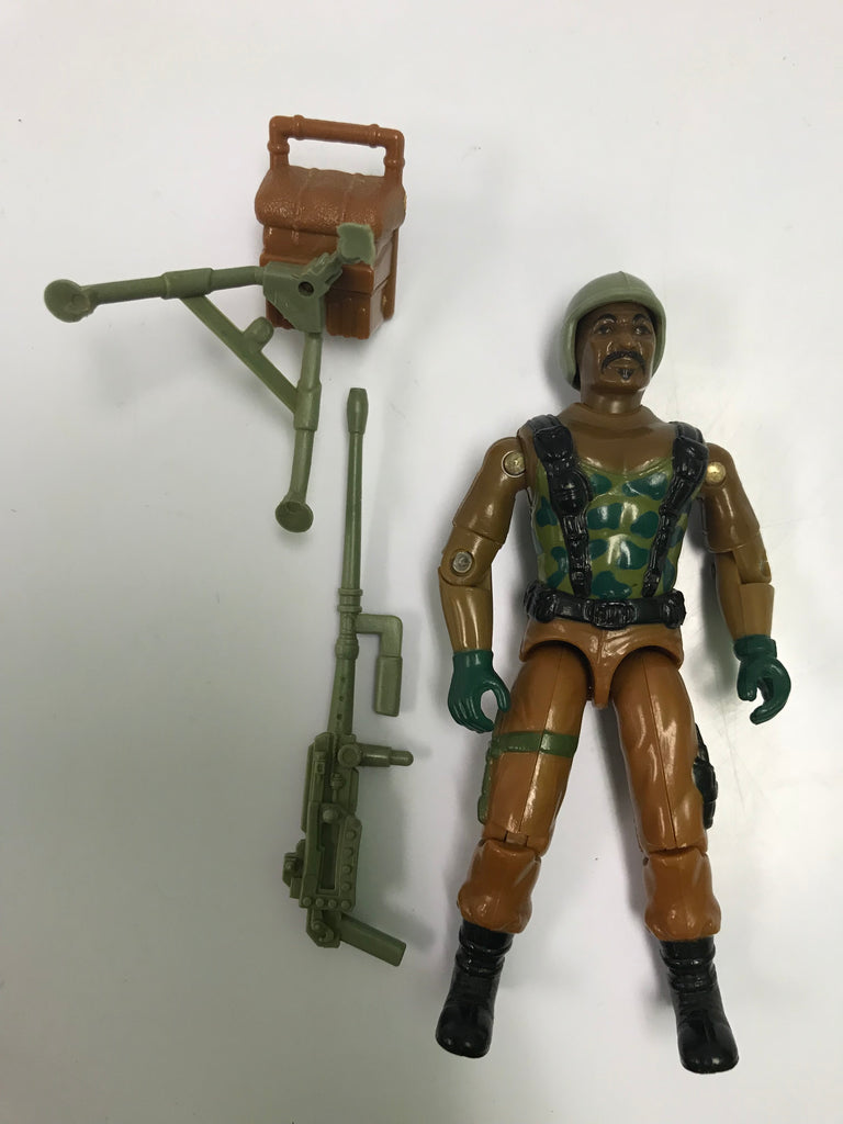 1984 Hasbro Gi Joe ROADBLOCK (v1) HEAVY MACHINE GUNNER Loose Complete