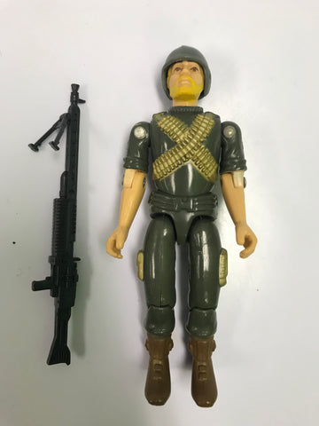 1982 Hasbro Gi Joe ROCK 'N ROLL (v1) MACHINE GUNNER Loose Complete