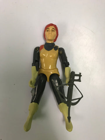 1982 Hasbro Gi Joe SCARLETT (v1) COUNTER INTELLIGENCE (straight-armed) Loose Complete