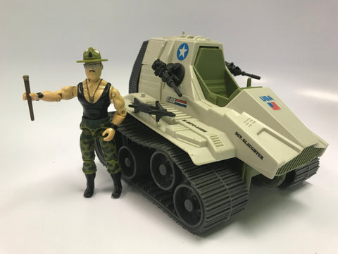1986 Vintage Hasbro GI Joe Triple T Tank Complete With V2 Sgt. Slaughter