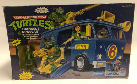 1992 Vintage Playmates Teenage Mutant Ninja Turtles TMNT Channel 6 Newsvan News Van Factory Sealed MISB MOC Never Opened