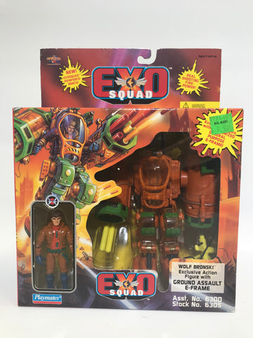 1995 Playmates Exo Squad Wolf Bronski Ground Assault E-Frame MISB Factory Sealed
