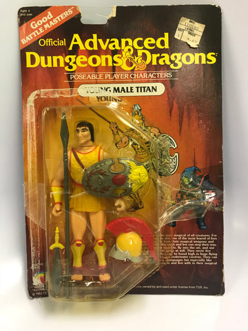1984 Vintage LJN Advanced Dungeons & Dragons Young Male Titan Good Titan Unused