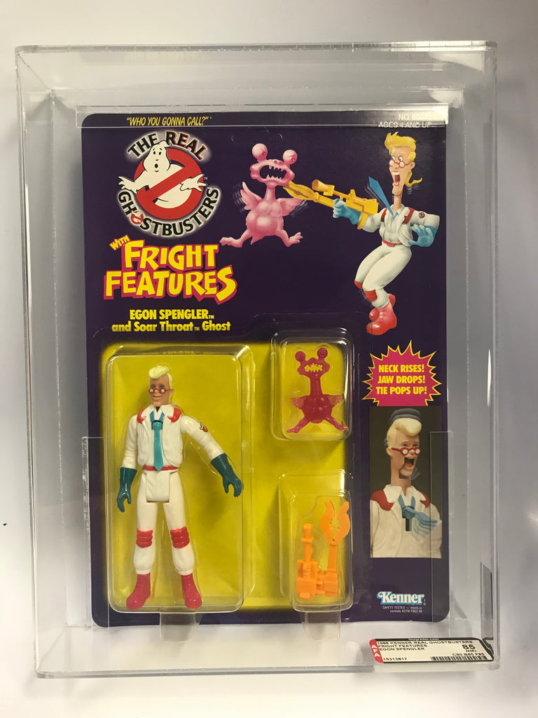 1988 Kenner The Real Ghostbusters Fright Features Egon Spengler Graded AFA 85 Factory Sealed