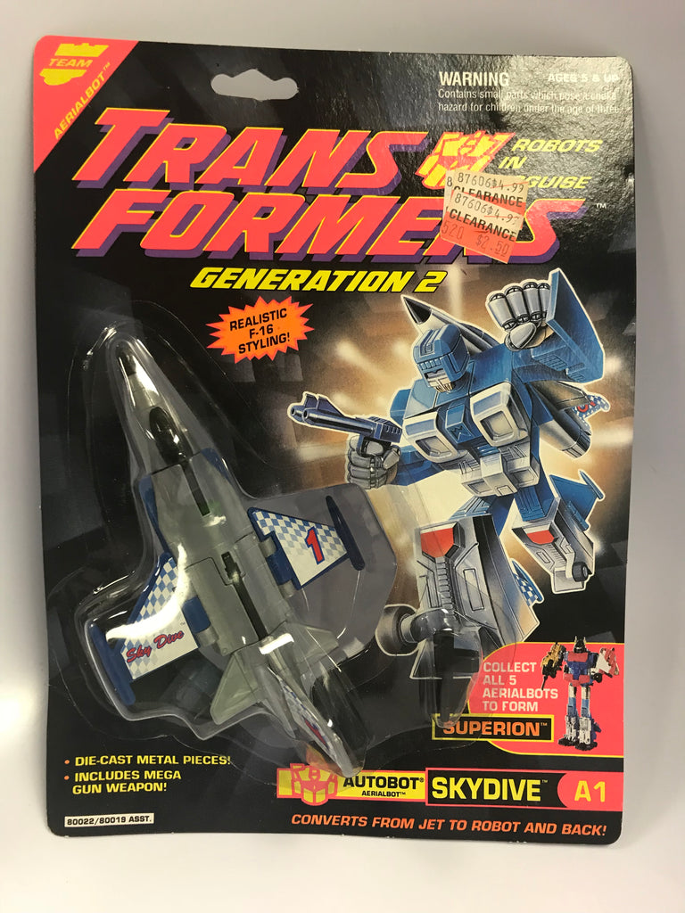 1988 Hasbro Transformers G2 Aerialbot Combiner SKYDIVE Forms Superion A1 MOC Sealed