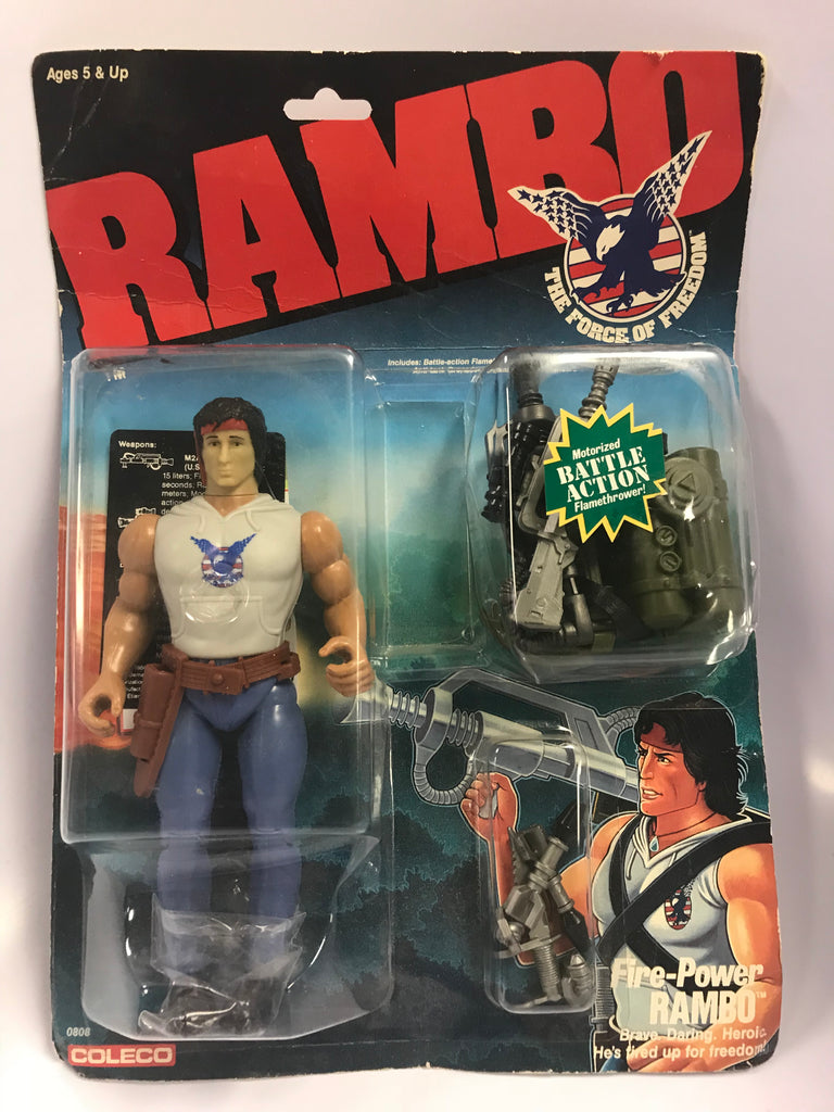 1986 Coleco Rambo: The Force of Freedom Fire-Power Rambo MOC Factory Sealed