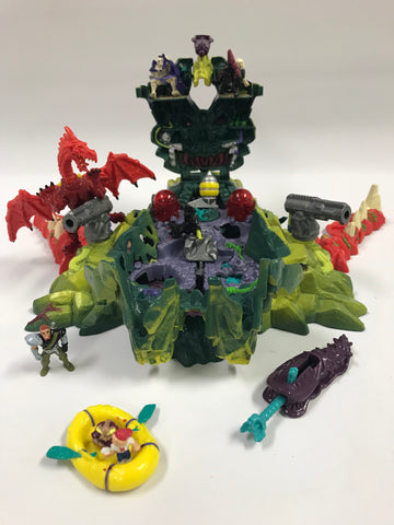 1993 Bluebird Mighty Max Storms Dragon Island Playset (No Missiles)