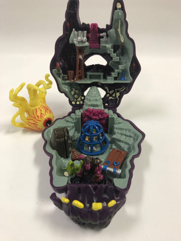 1992 Bluebird Mighty Max Outwits Cyclops Playset Complete