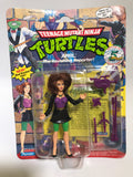 1993 Playmates Teenage Mutant Ninja Turtles TMNT April The Ravishing Reporter MOC
