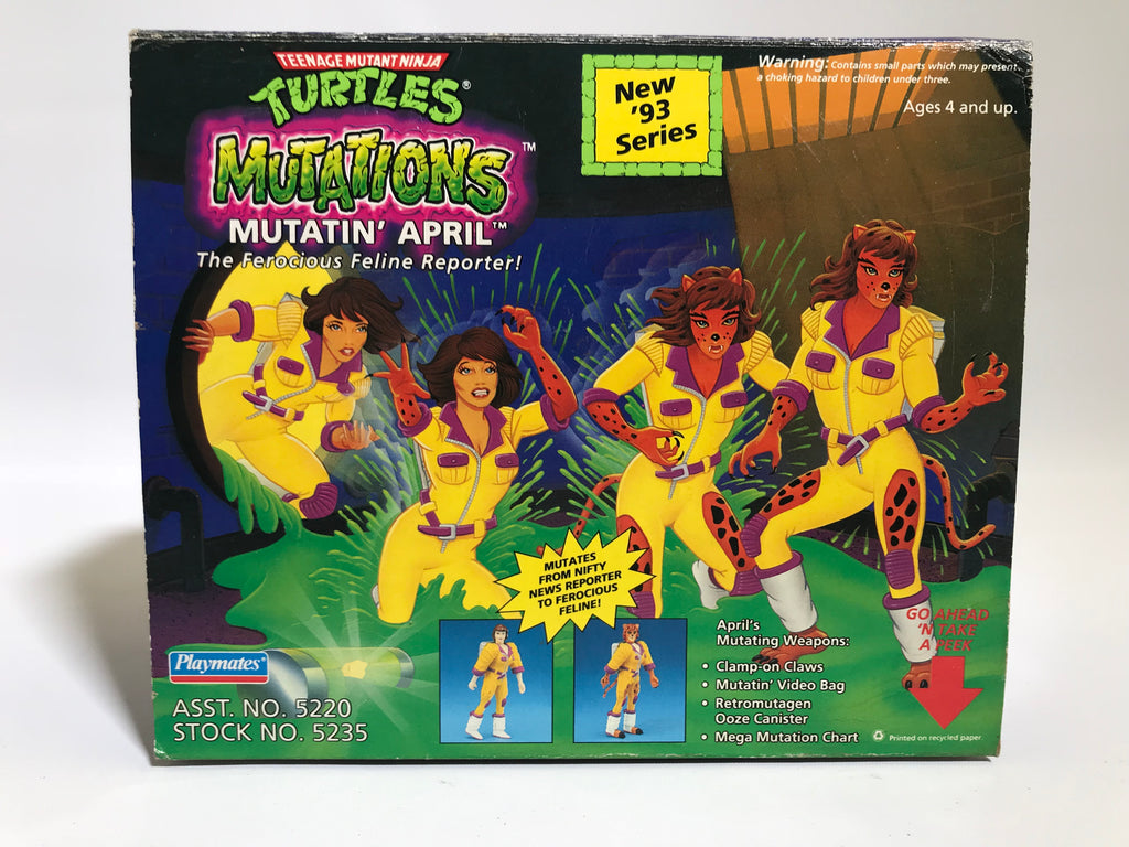 1993 Playmates Teenage Mutant Ninja Turtles TMNT Mutatin' April MOC