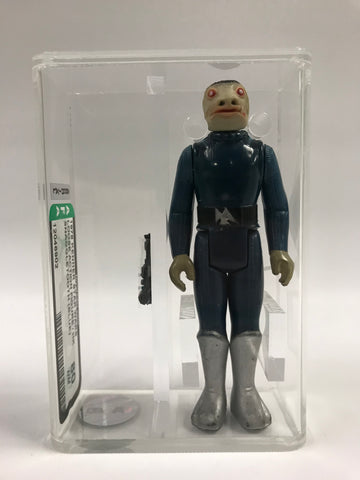 1978 Kenner Star Wars Blue Snaggletooth COO Hong Kong AFA 80