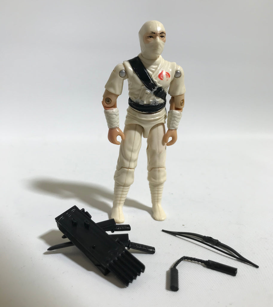 1982 Hasbro Gi Joe STORM SHADOW (v1) COBRA NINJA Bright White Color Loose Complete