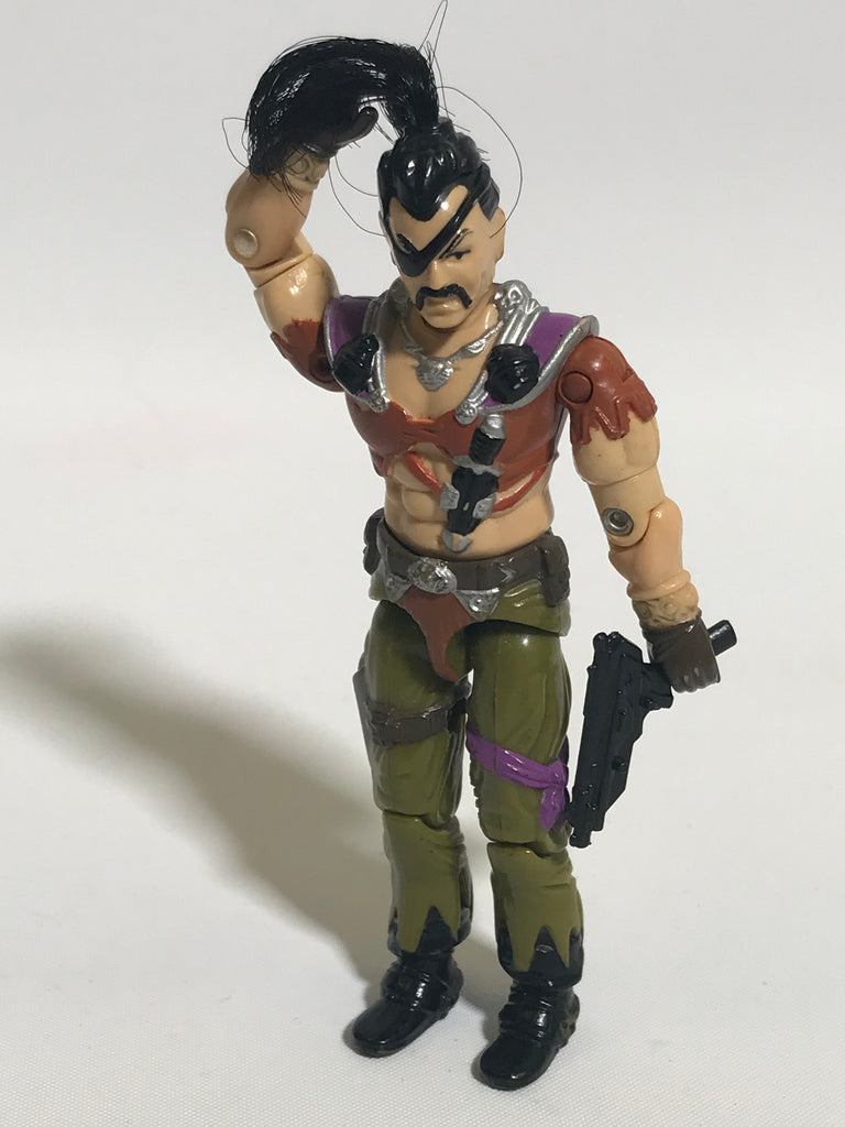 1987 Hasbro Gi Joe ZANZIBAR (v1) DREADNOK PIRATE Vehicle Pilot Dreadnok Air Skiff Loose Not Complete