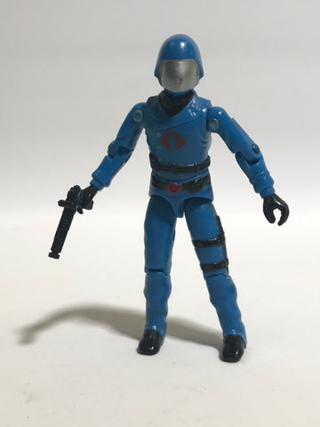 1982 Hasbro Gi Joe COBRA COMMANDER (v1)  ENEMY LEADER (straight-armed) Loose Complete