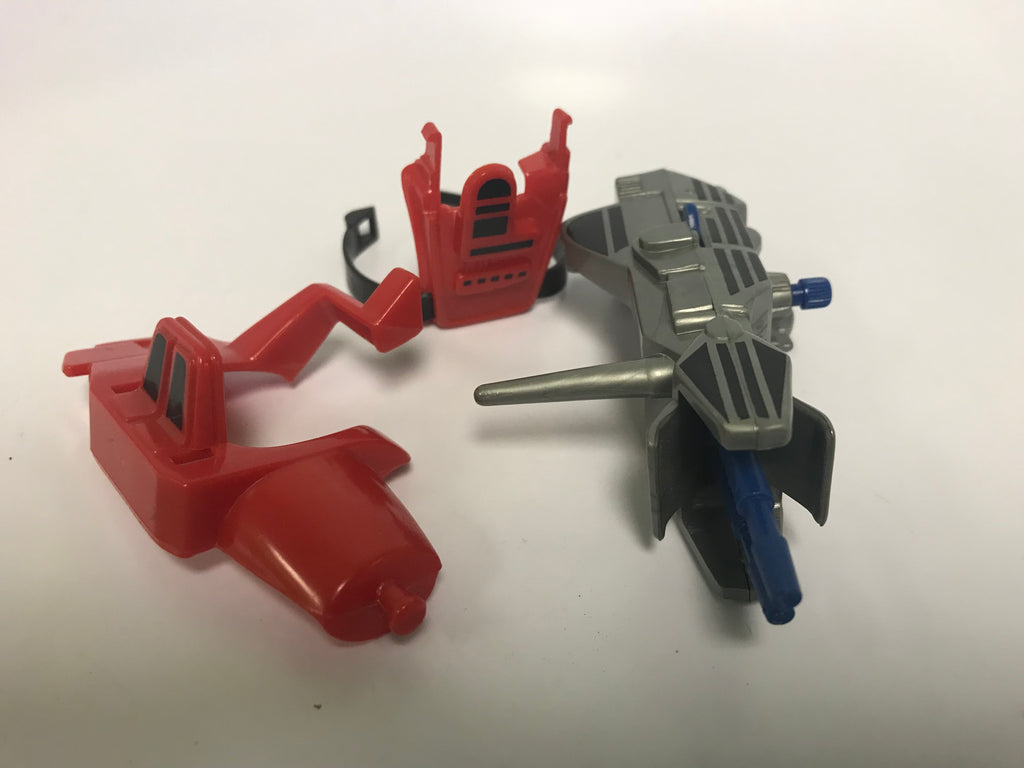 1986 Mattel He-Man & The Masters of the Universe Heroic Wind-Up Beam Blaster! Megalaser Loose Complete