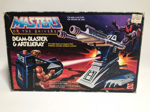 1987 Mattel He-Man & The Masters of the Universe Beam-Blaster & Artilleray In Original Box Unused Stickers Unapplied