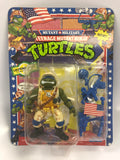 1991 Playmates Teenage Mutant Ninja Turtles TMNT Mutant Military Lieutenant Leo MOC Sealed
