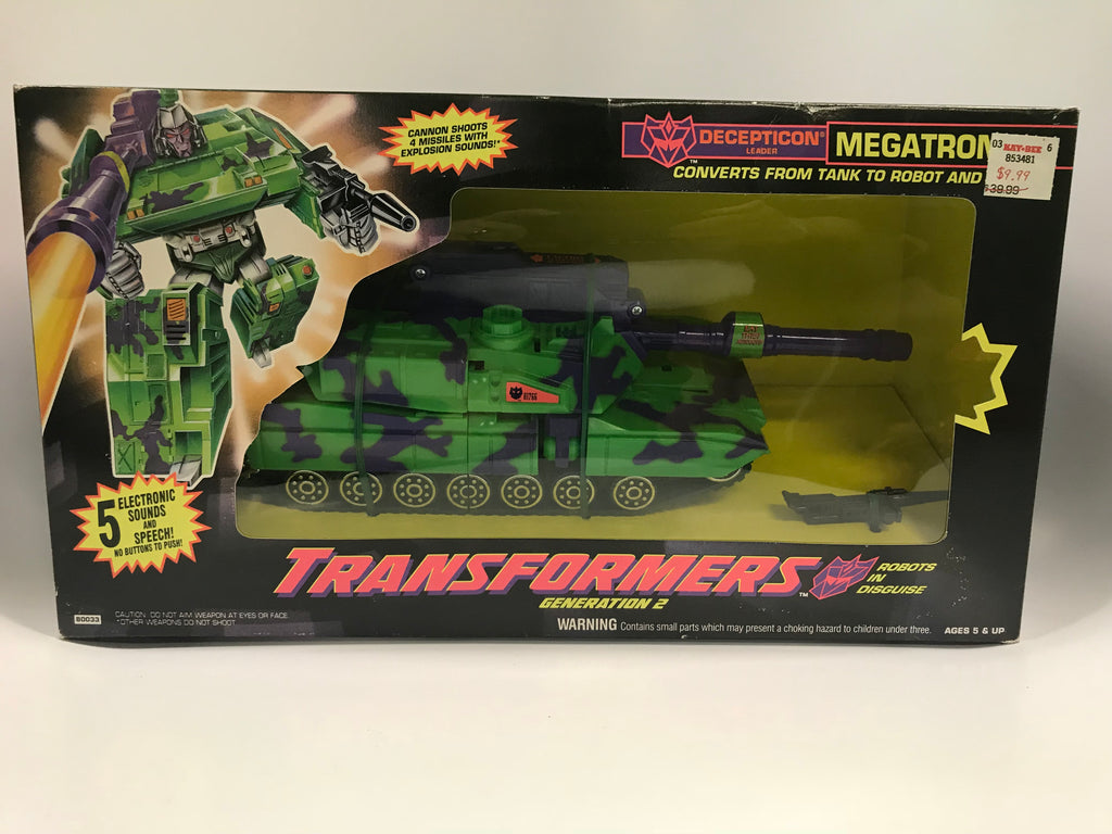 1993 Hasbro Transformers Megatron Tank G2 MISB Factory Sealed MISP NEW