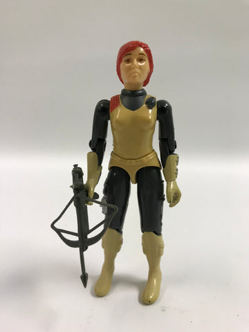 1982 Hasbro Gi Joe SCARLETT (v1) COUNTER INTELLIGENCE Loose Complete